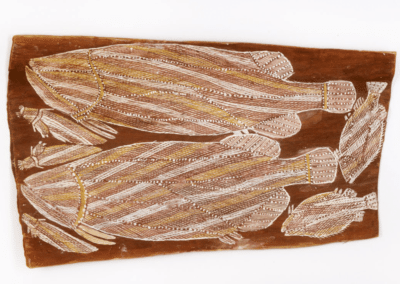 NATIONAL TREASURES: Bark Paintings by Wally Mandarrk – The Cbus Collection of Australian Art
