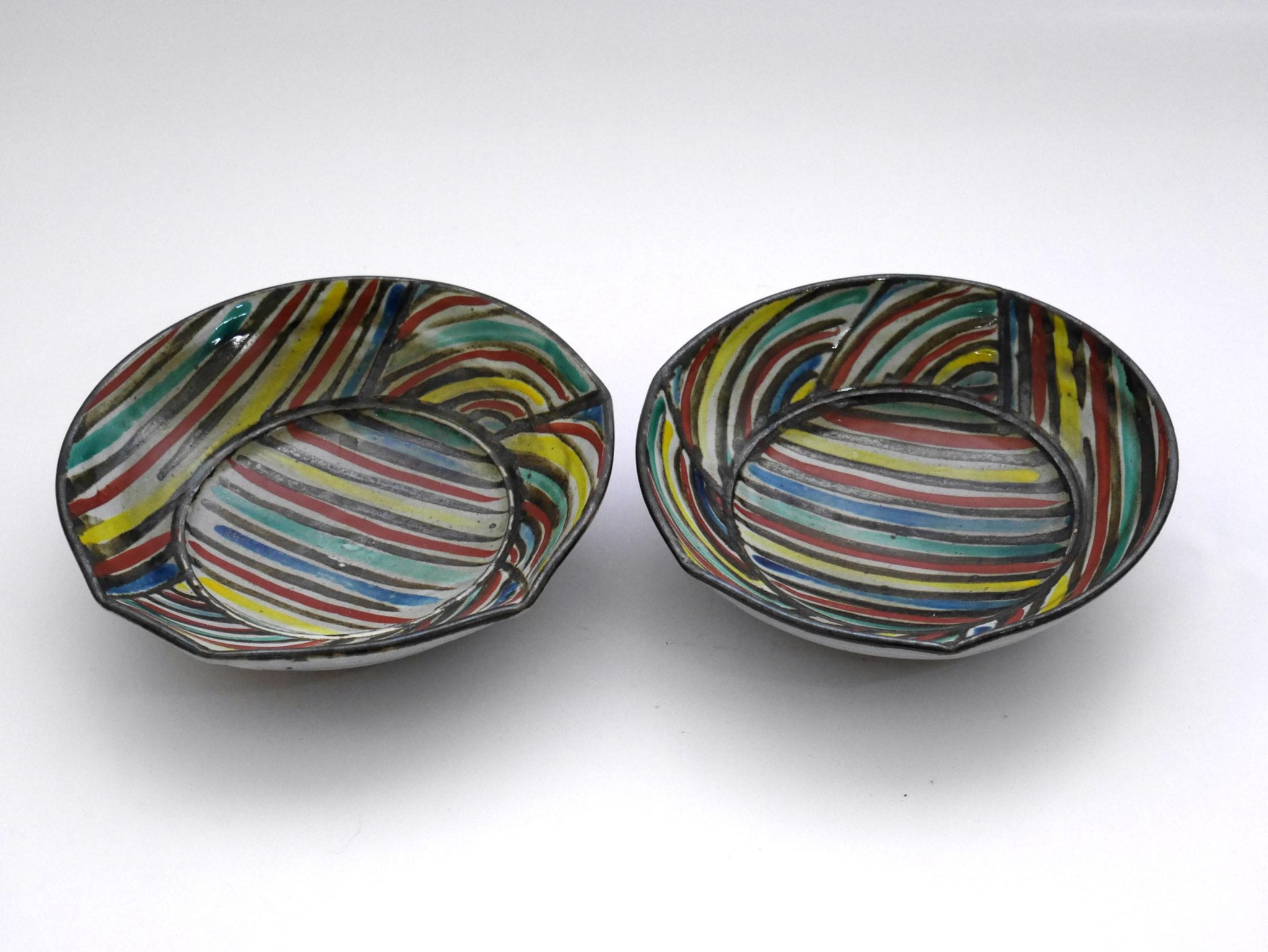 Kevin White, Two Dishes, 1980, ceramic, 4.5 x .17 cm. Courtesy the artist.