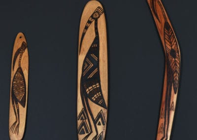 VOICE, TREATY, TRUTH: Gunaikurnai artworks from the Latrobe Regional Gallery collection, Uncle Albert Mullett and Steaphan Paton