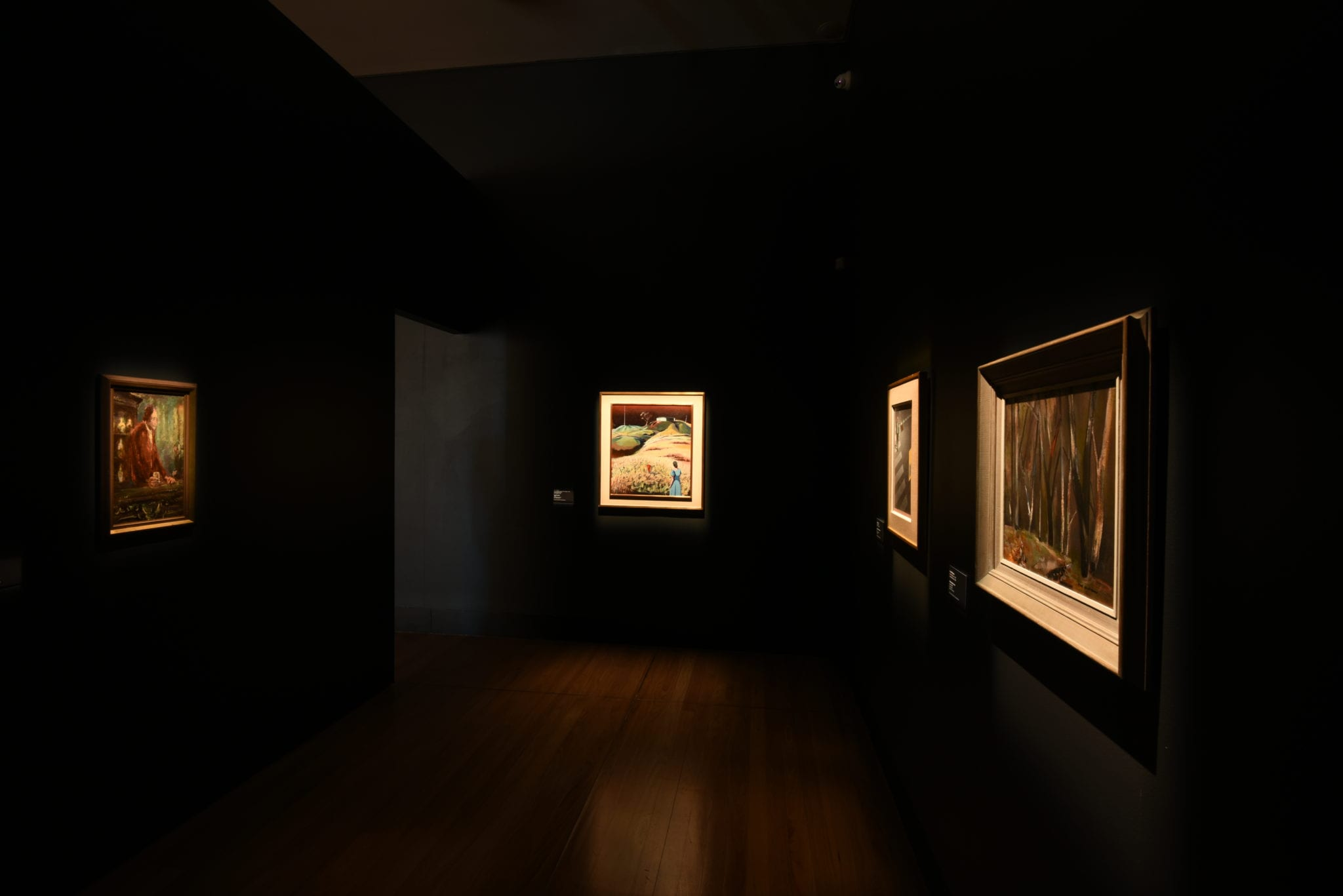 Exhibition documentation, 'Morning, Noon and Night: Selected works from the Cbus Collection of Australian Art', 13 July – 13 October 2019, Gallery 1 & 2, Latrobe Regional Gallery. Photograph: Latrobe Regional Gallery.