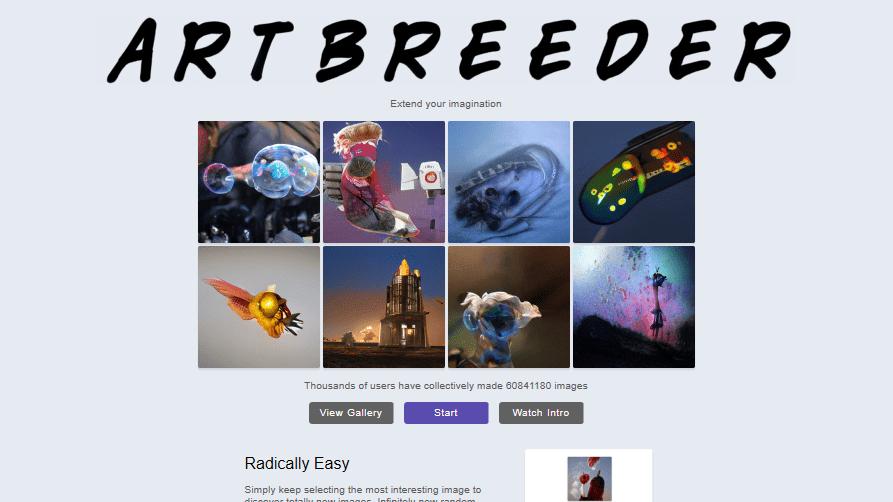 ArtBreeder Homepage