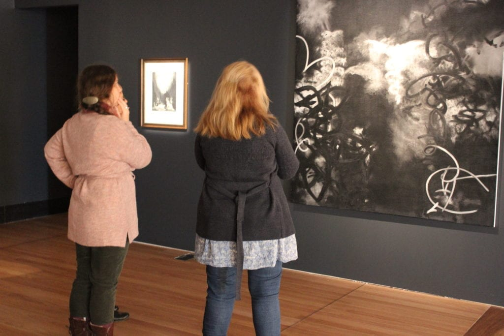 Image credit: Patrons viewing works in Morning, Noon And Night: Selected works from the Cbus Collection of Australian Art, 13 July to 13 October 2019,Gallery 1 & 2. Latrobe Regional Gallery.