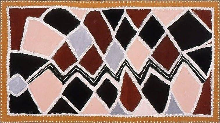 Queenie McKenzie Circa 1915 – 1998 Argyle diamond mine 1997 Natural pigments and binder on canvas 90.3 x 159.5 cm
