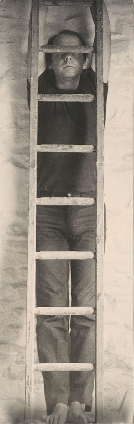 David Thorp, Wood Lines, c. 1982, Silver Gelatin Print, 139 x 43 cm. Latrobe Regional Gallery Collection.