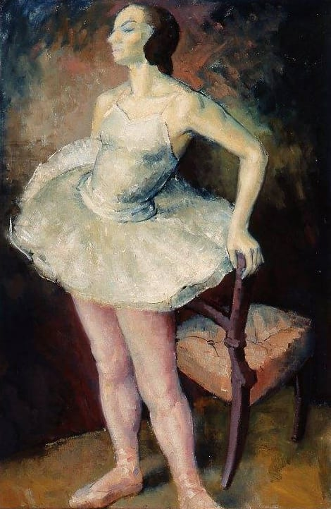 Janet Dawson, (Born 1935) Ballerina, 1955, Oil on canvas on board, 111.5 x 81 cm. CBUS Collection of Australian Art