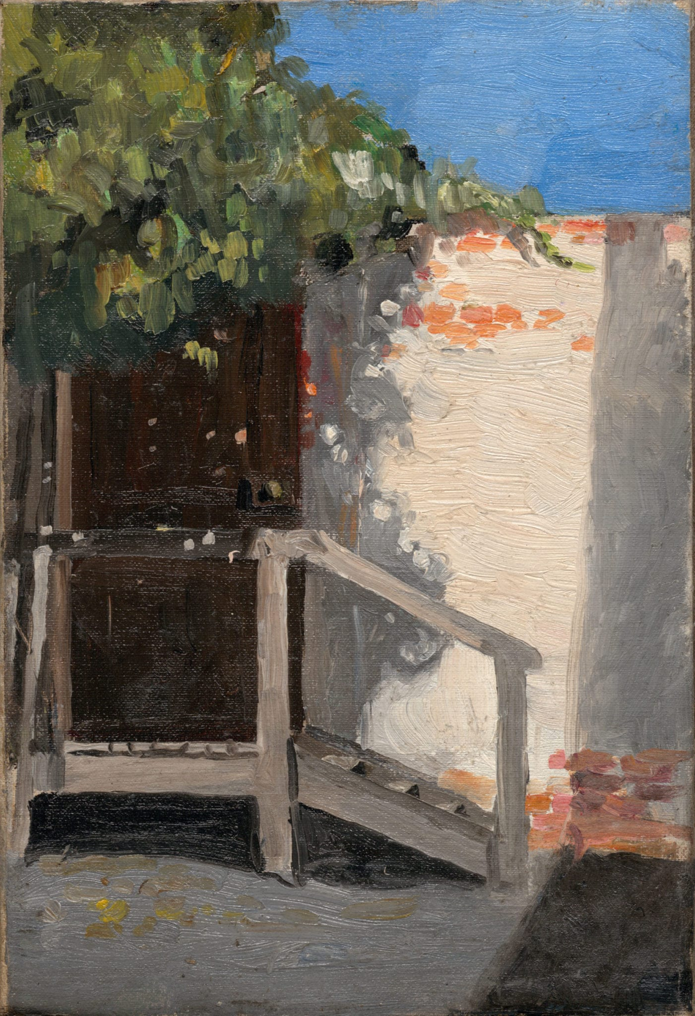 Mary Meyer, Door in the Brick Wall, nd. Oil on canvas board, 30 x 20 cm. Latrobe Regional Gallery Collection.