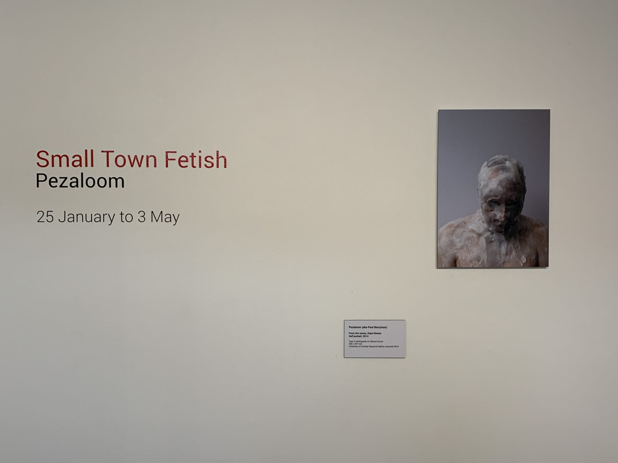 Exhibition Documentation, Small Town Fetish, Pezaloom, 25 January to 21 June 2020, Gallery 4, Latrobe Regional Gallery. Photograph: Latrobe Regional Gallery.