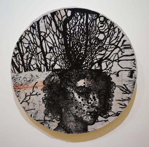 Heather Shimmen, Lost 11, 2008 linocut on felt, edition 10, 51cm x 51cm,