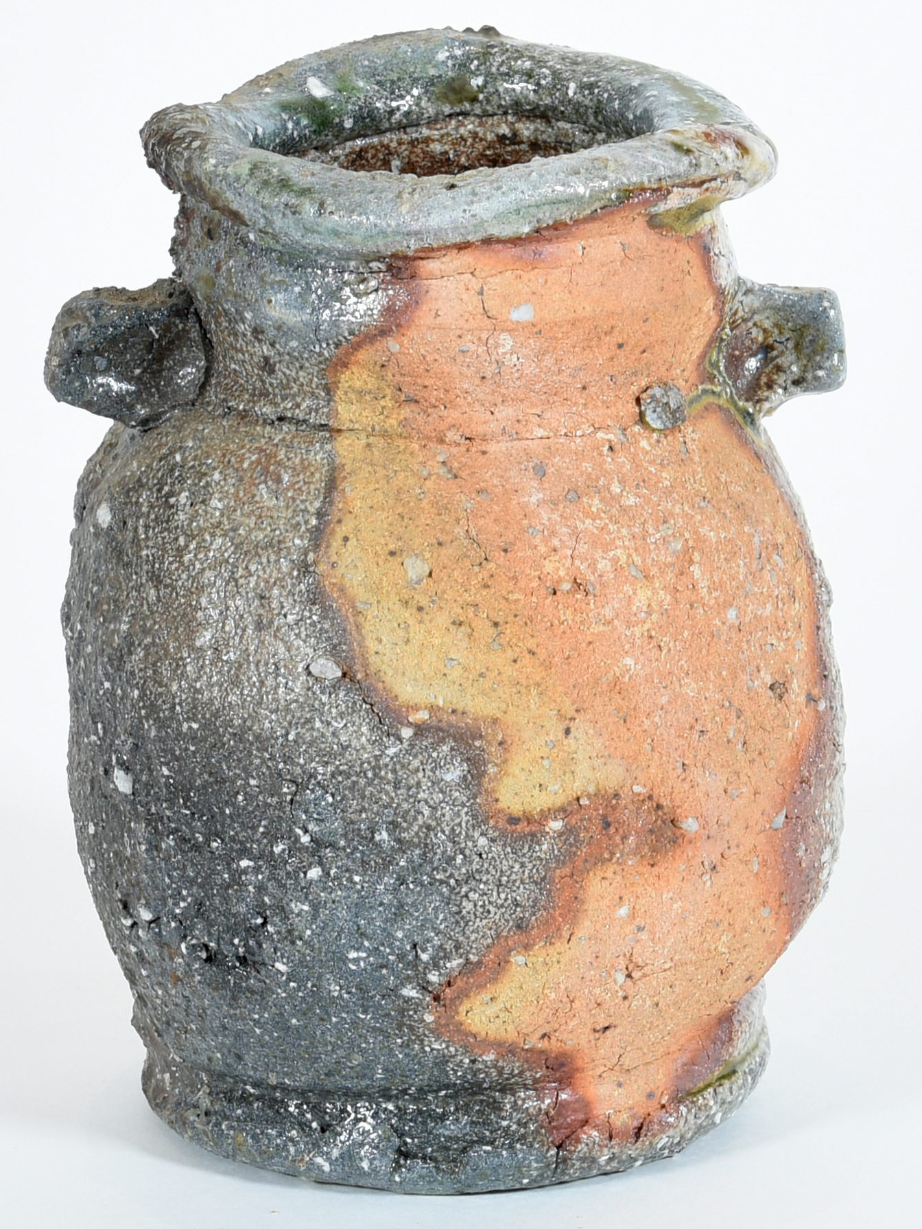 Owen Rye Vase 7, 1995, Wood fired ceramic and ash, 19 x 14 x 14 cm, Latrobe Regional Gallery Collection, purchased 2019.