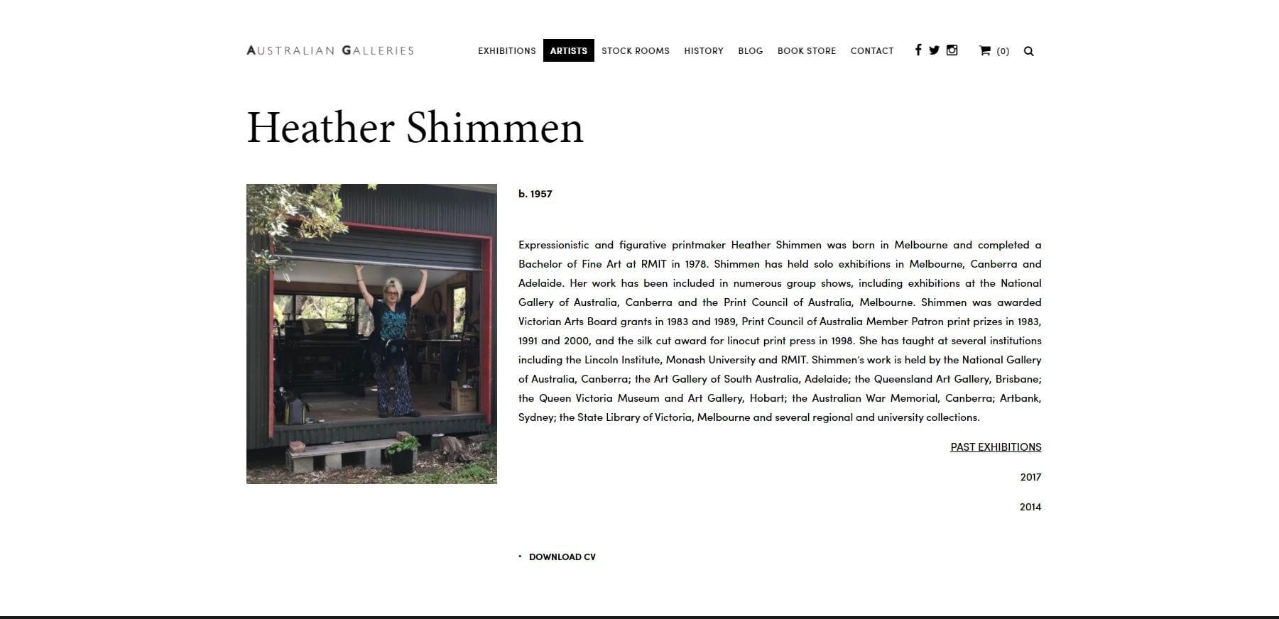 Shimmen Website Homepage