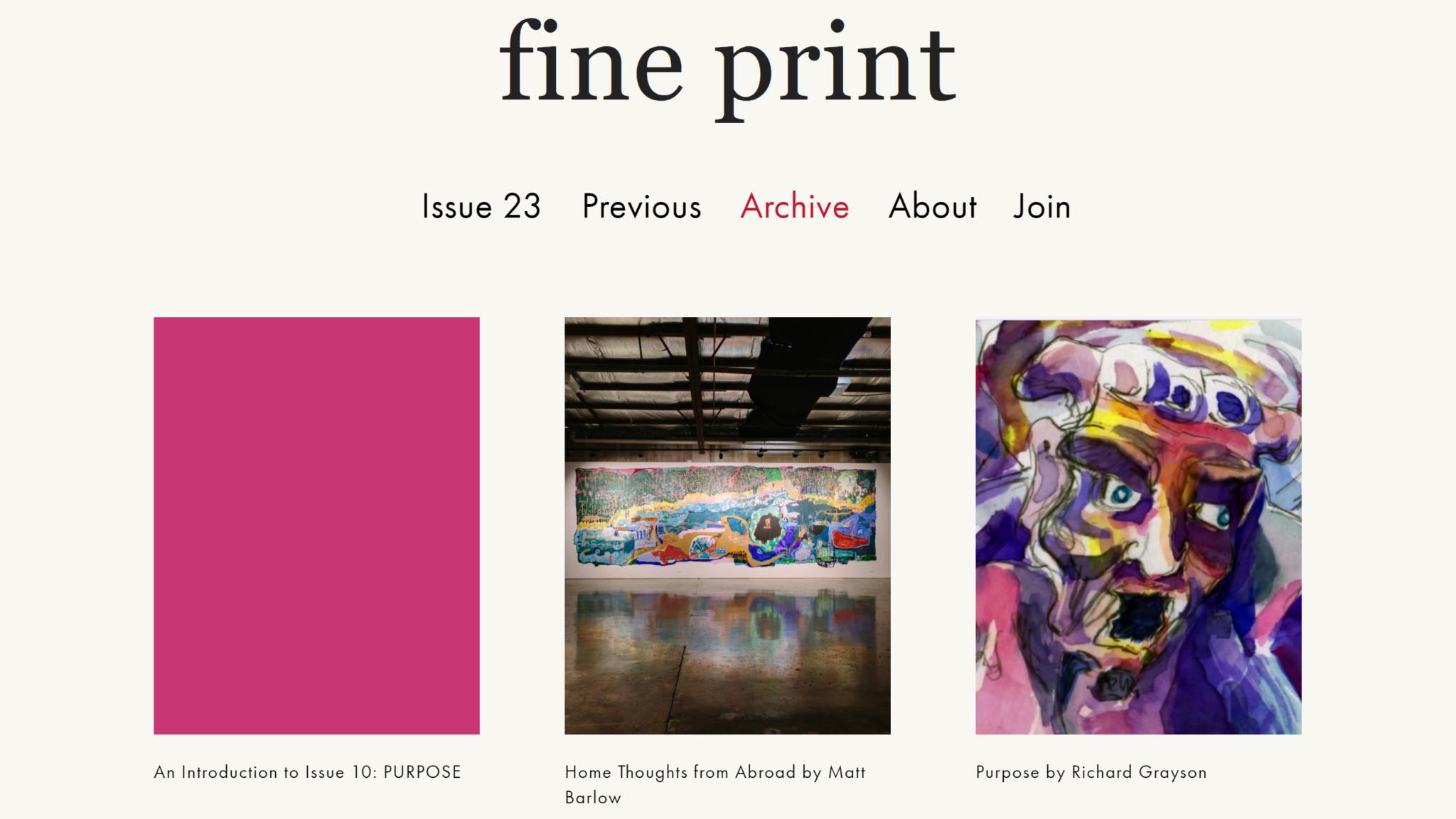 Fine Print Magazine