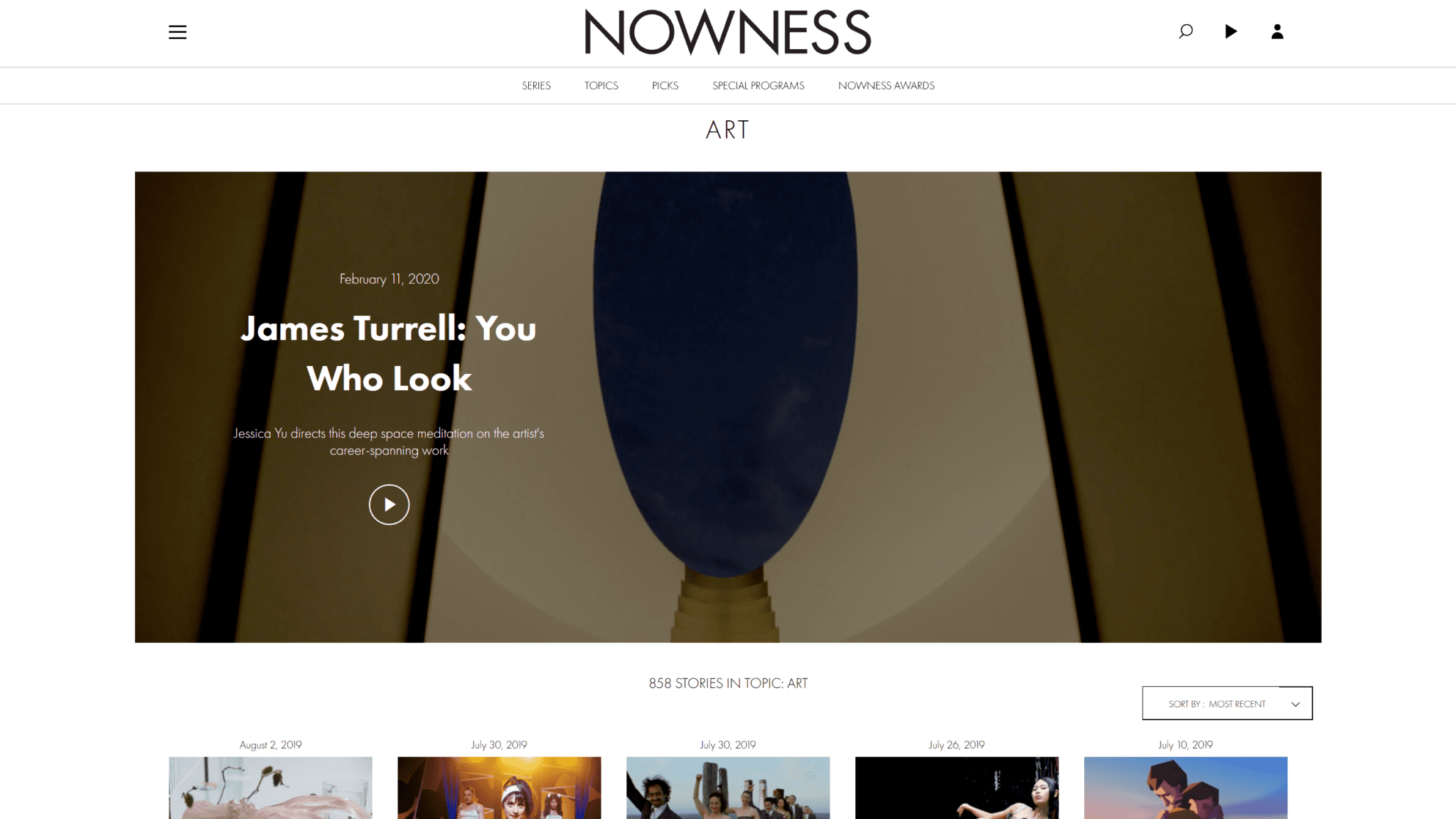 Nowness Online Magazine Image