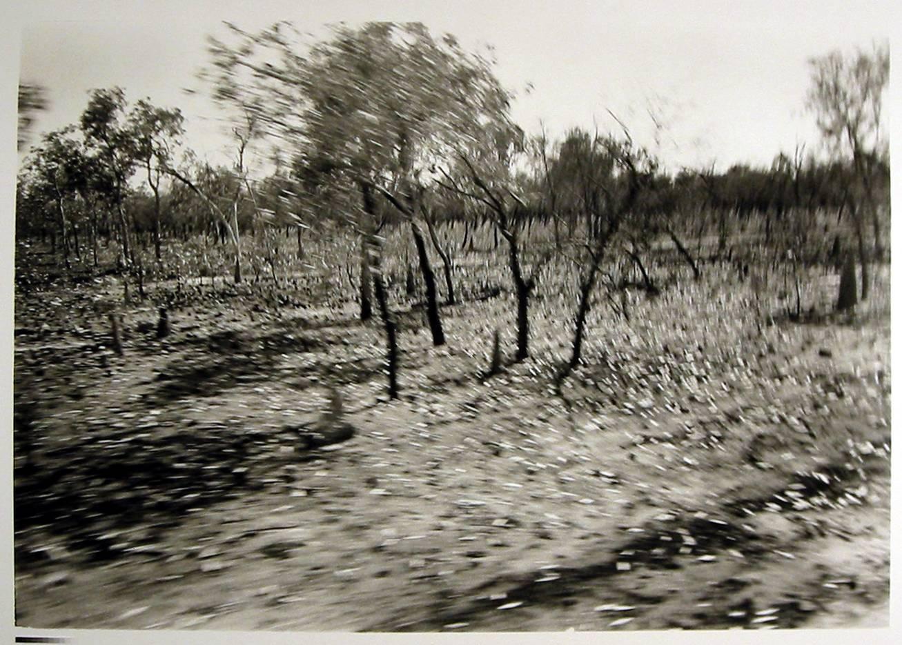 Susan Purdy, Diagonal Landscape, 1993, Silver Gelatin Photograph, 62 x 92cm. Latrobe Regional Gallery Collection.