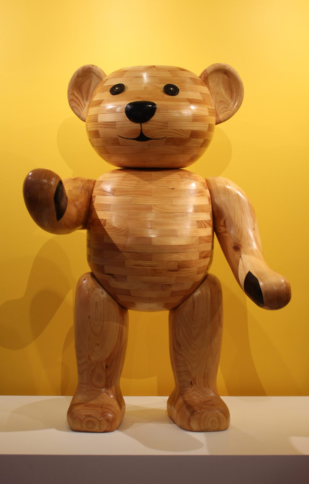John Abery, Would you like to meet my old Teddy, 2016, Laminated timber, 180 x 120 x 120 cm, Courtesy the artist.