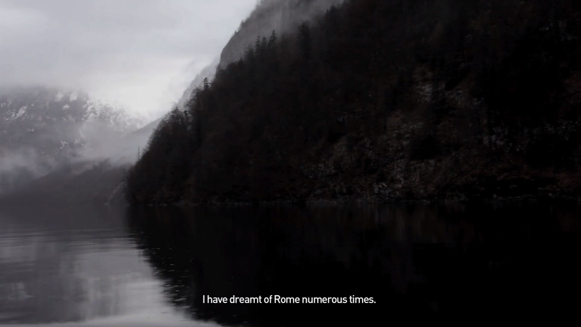 Pilar Mata Dupont, Mountain (still), 2015, Single channel video projection with audio, 8.11 mins, Courtesy the artist and Moor Contemporary, Perth.