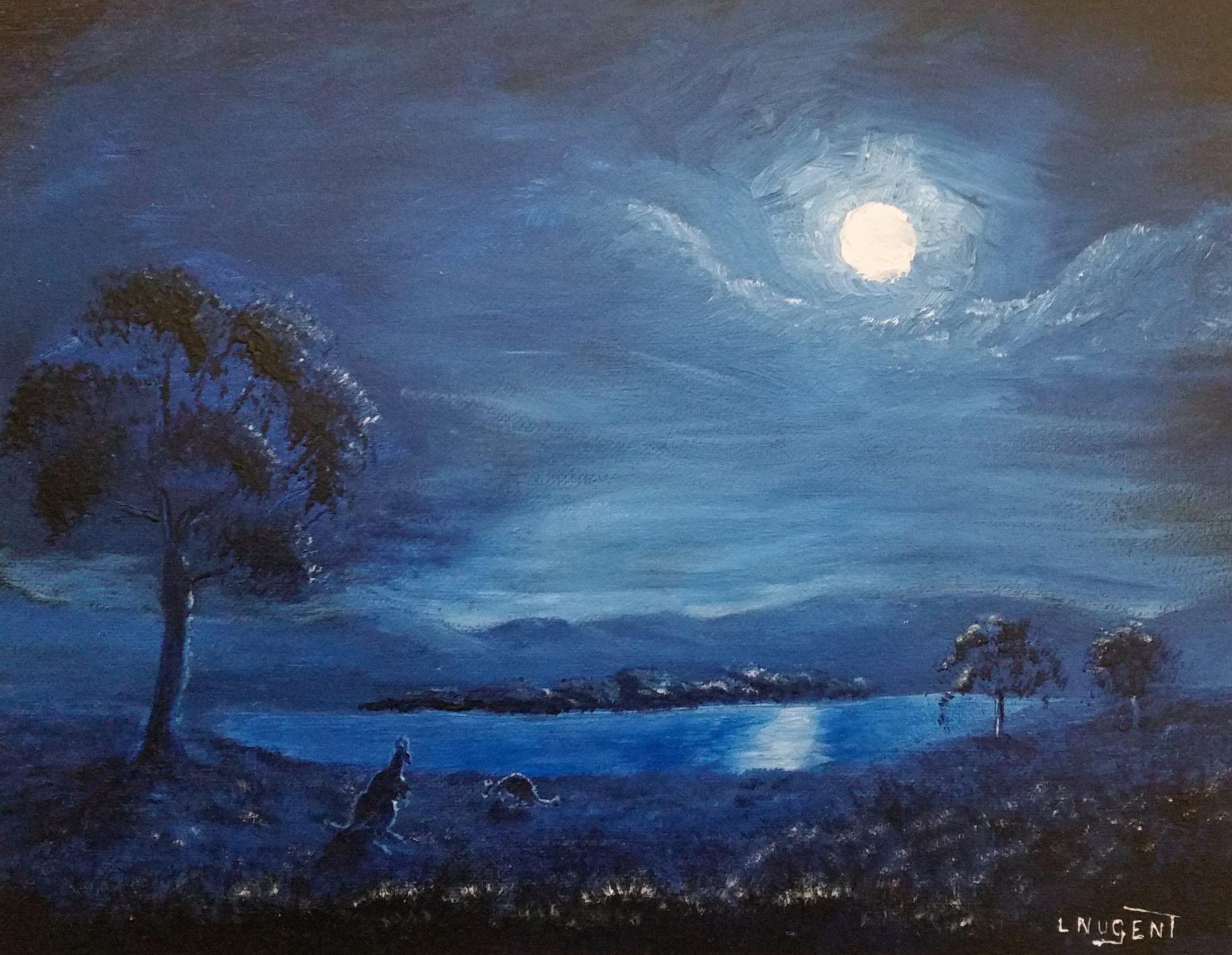 Lionel Nugent, Luna Landscape in Blue