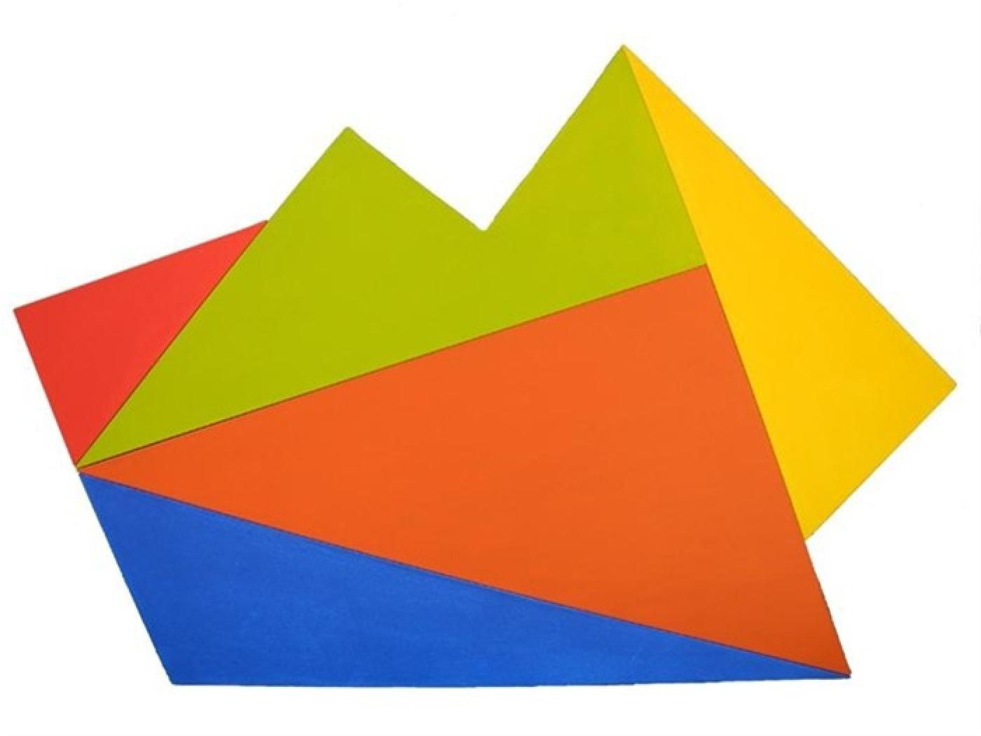 Sydney Ball, Infinix #30, 2012, acrylic on shaped canvas, 89 x 131 cm. Courtesy of Charles Nodrum Gallery, Melbourne.